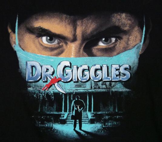 VINTAGE 1992 DR. GIGGLES HORROR SLASHER MOVIE T-SHIRT