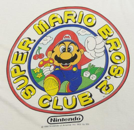 SUPER MARIO BROS. 2 NINTENDO 1988 T-SHIRT XL