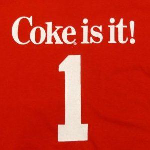VINTAGE 80'S COKE IS IT! COCA-COLA T-SHIRT JERSEY