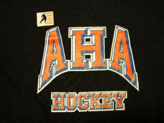 Vintage 80's USA AHA Adult Hockey Association T-Shirt