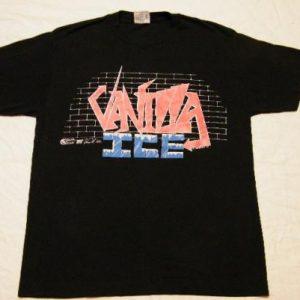 Vintage 1990 Vanilla Ice Concert Tour Rap Hip Hop T-Shirt