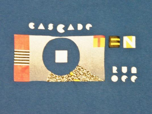 Vintage 80's Nike 10th Cascade Run Off Running Race T-Shirt