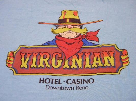 Vintage 80's Virginian Casino Hotel Reno Nevada T-Shirt