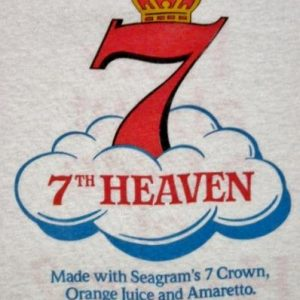 Vintage 80's Seagram's 7 Crown 7th Heaven Whiskey T-Shirt