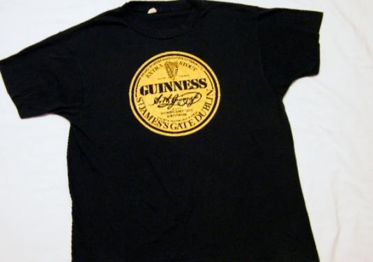 Vintage 1980's Guinness Extra Stout Beer T-Shirt