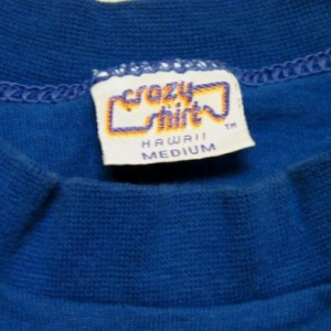 Vintage 1986 Hawaiian Halley's Comet Crazy Shirts T-Shirt