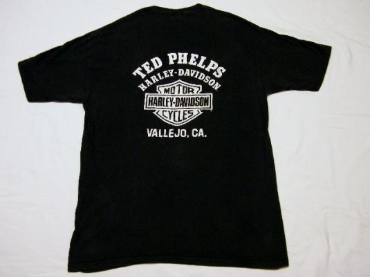 Vintage 1986 Haley Davidson MotorCycles Vallejo, CA T-Shirt