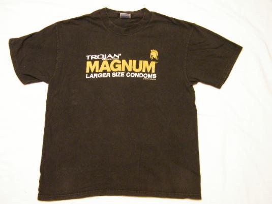 Vintage Trojan MAGNUM Larger Size Condoms T-Shirt