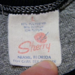 Vintage 70's Mackinac Island Michigan Rayon Ringer T-Shirt