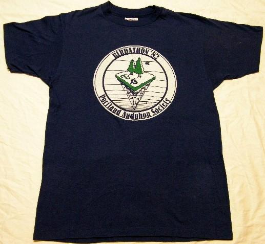 Vintage 1982 Portland Audubon Society Birdathon T-Shirt