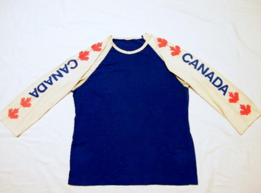 Vintage 1980's Canada Maple Leaf Jersey T-Shirt
