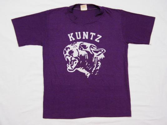 Vintage 1980's KUNTZ Elementary School Lawton OK. T-Shirt