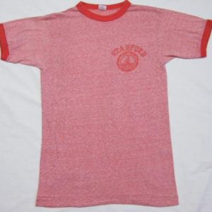 Vintage Stanford University Champion Blue Bar Ringer T-Shirt