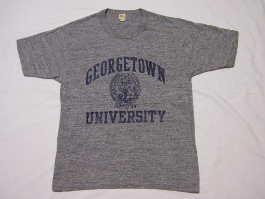 Vintage 80's Georgetown University Heather Rayon T-Shirt