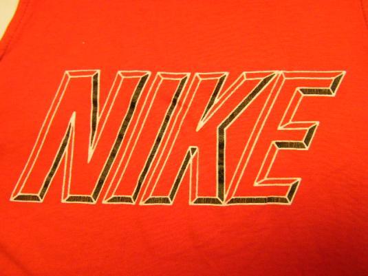Vintage 80's 90's Nike Logo Red Tank top T-Shirt