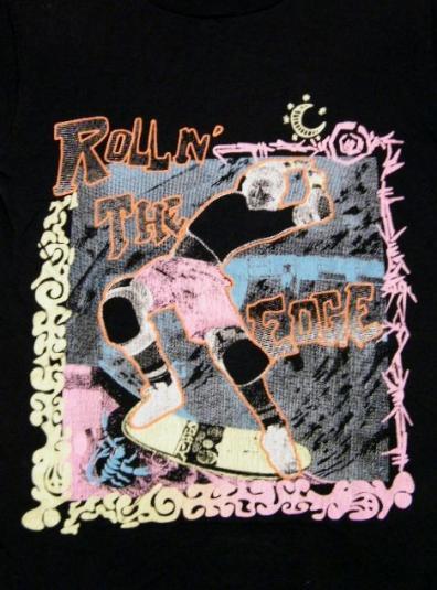 Radical Vintage 80's Rollin The Edge Skateboard T-Shirt