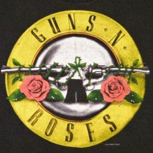 Vintage 1987 Guns N' Roses Was Here Rock Tour T Shirt