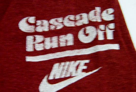 Vintage 1983 Nike Cascade Run Off Running Race T-Shirt