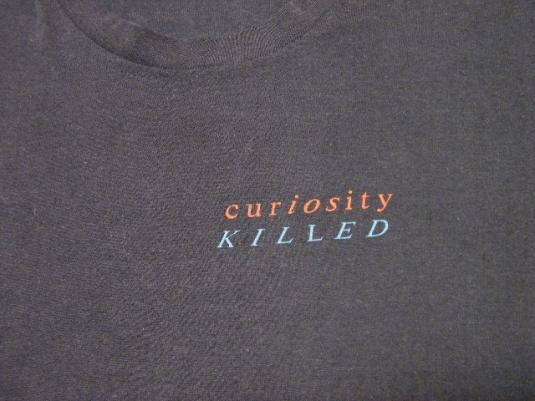Vintage 80's CURIOSITY KILLED THE CAT British Band T-Shirt