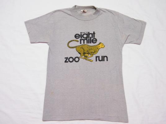 Vintage 1979 Mac Eight Mile Zoo Run Running Race T-Shirt