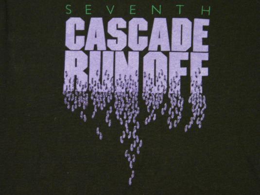 Vintage Nike 1984 Cascade Run Off Race T-Shirt Blue Tag