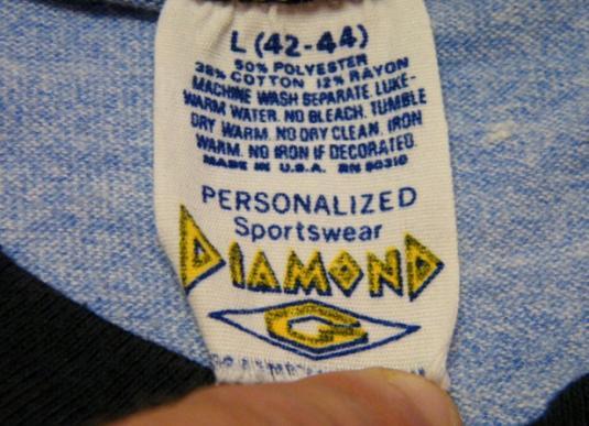Vintage 70's Orcas Island Beach Resort Rayon Ringer T-Shirt