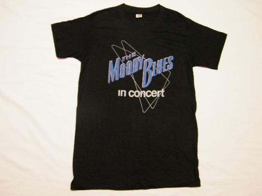 Vintage 70's The Moody Blues In Concert Octave Tour T-Shirt