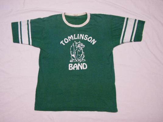 Vintage 80's Tomlinson Middle School Wolves Band T-Shirt