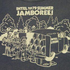 Vintage 1979 Intel Computers Jamboree Womans T-Shirt rare