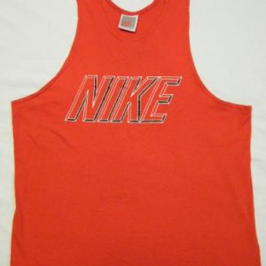 Vintage 80's 90's Nike Logo Red Tank top T-Shirt
