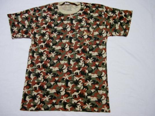 Vintage 1992 Joe Camel Cigarettes Camouflage Camo T-Shirt