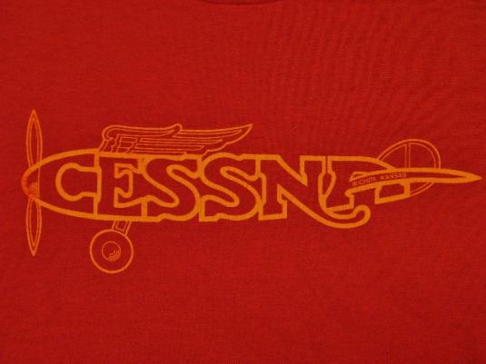 Vintage 80's Cessna Airplane Aircraft Wichita KS. T-Shirt