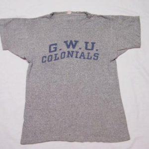 Vintage 60's Champion Runner Tag G.W.U. Colonials T-Shirt