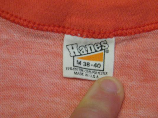 Vintage 80's YMCA Camp Massasoit Red Heather Ringer T-Shirt