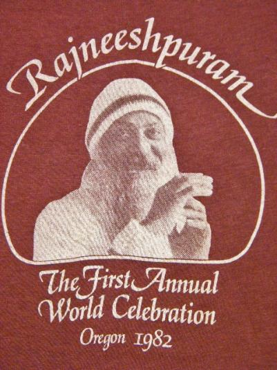 Vintage 1982 Bhagwan Rajneeshpuram 1st Celebration T-Shirt