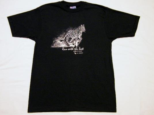 """Vintage Zebra Systems """"Run With The Best"""" Graphic T-Shirt"""