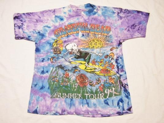 Vintage 1994 Grateful Dead Summer Tour Rock Concert T-Shrit