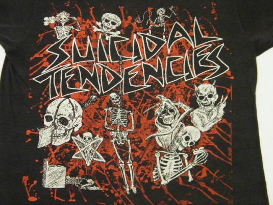 Vintage 80's Suicidal Tendencies Punk Rock Skater T-Shirt