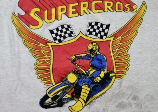 Vintage 1980 Supercross MX Motorcycle Racing T-Shirt