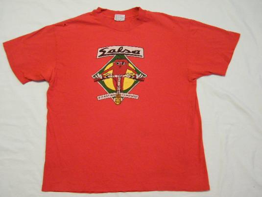 Vintage Salsa Mountain Bike Cycling Worthless Moto T-Shirt