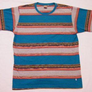 Vintage 80's HANG TEN Striped Stripe Pocket Surfer T-Shirt