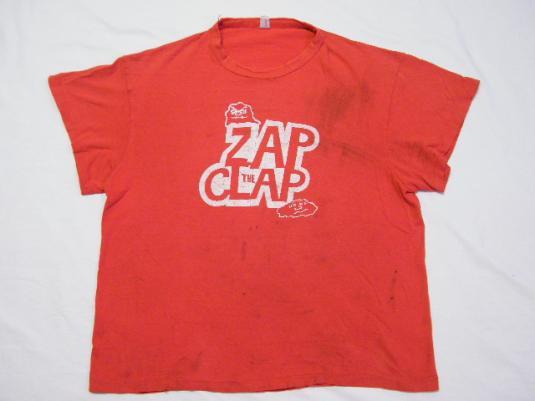 Vintage 70's 80's ZAP THE CLAP VD Info STD T-Shirt Rare