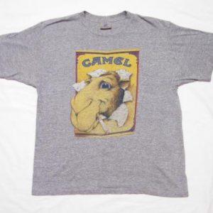 Vintage 80's Joe Camel Cigarettes Rayon Tri Blend T-Shirt