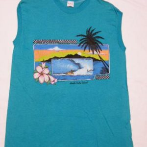 NOS Vintage 80's Sunline South Padre Is. Surfing Surf Shirt