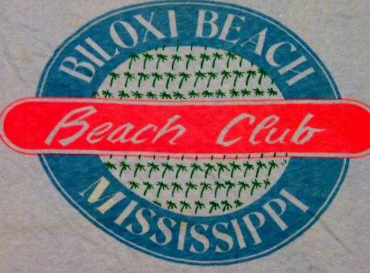 Vintage 80's Mississippi Biloxi Beach Club T-Shirt