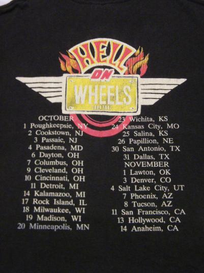 Vintage 1987 Grim Reaper Hard Rock Band Concert Tour T-Shirt