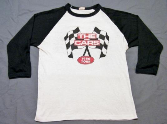 Vintage 1980 The Cars Rock Concert Tour T-Shirt