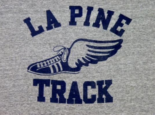 Vintage 80's LA PineOregon High School Track T-Shirt