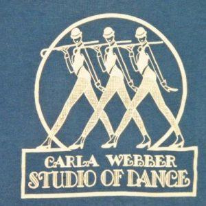 Vintage 80's Carla Webber Studio Of Dance Dancers T-Shirt