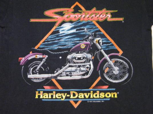 Vintage Harley Davidson Sportster Motorcycle Biker T-Shirt